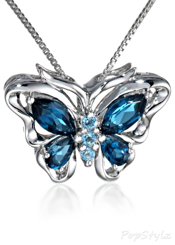 XPY Topaz Butterfly Necklace