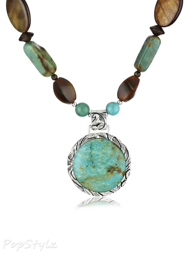 """Barse """"Jacquard"""" Genuine Turquoise Multistone Necklace"""