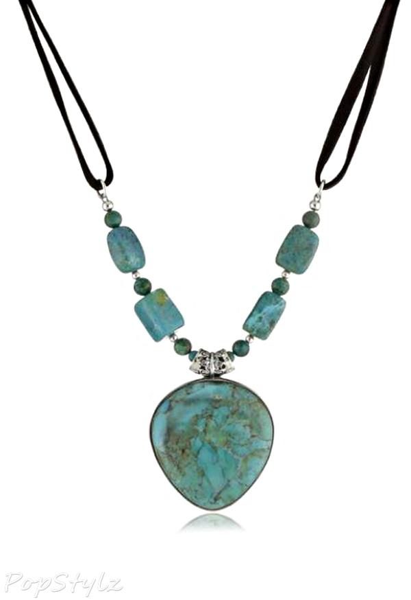 """Barse """"Manuscript"""" Genuine Turquoise Necklace"""