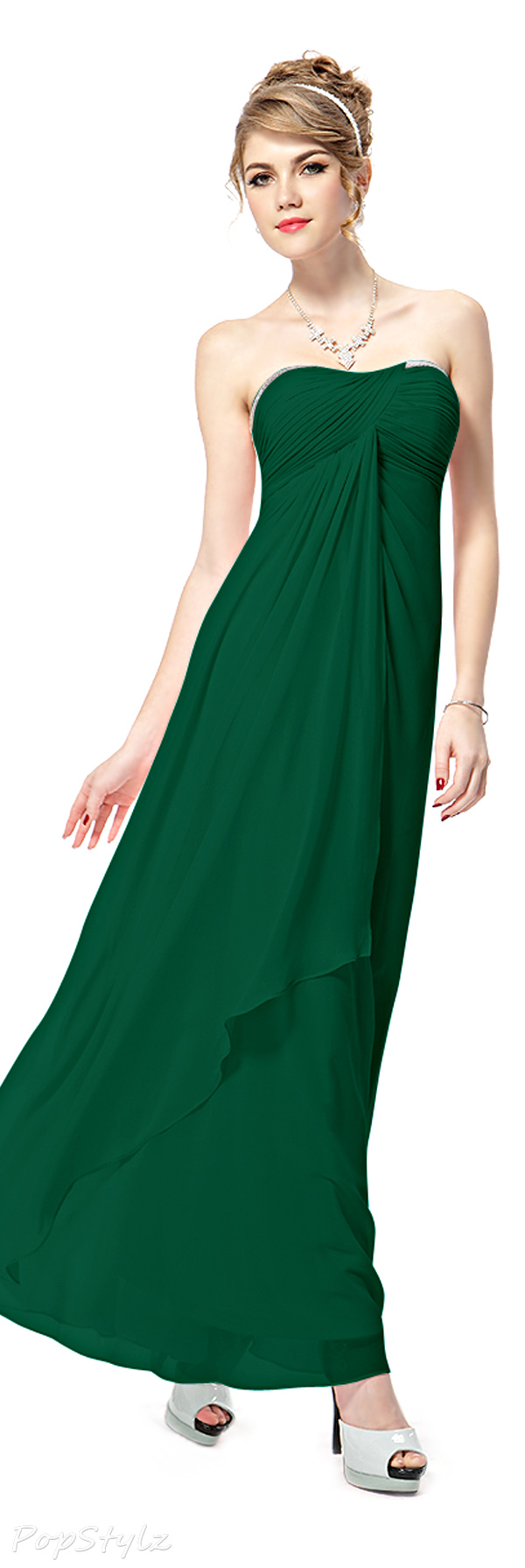 Ever Pretty 08101 Strapless Ruched Long Dress