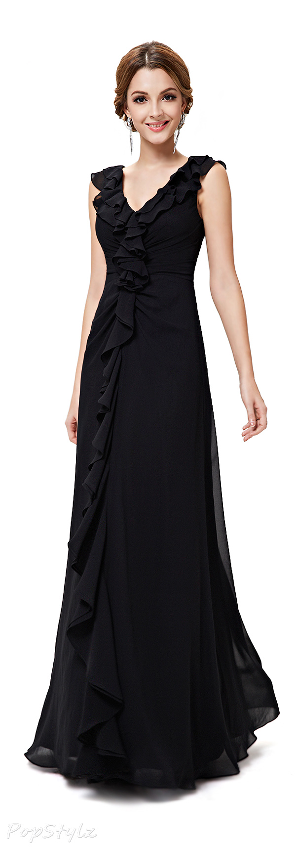 Ever Pretty 08219 Ruffled Long Evening Dress