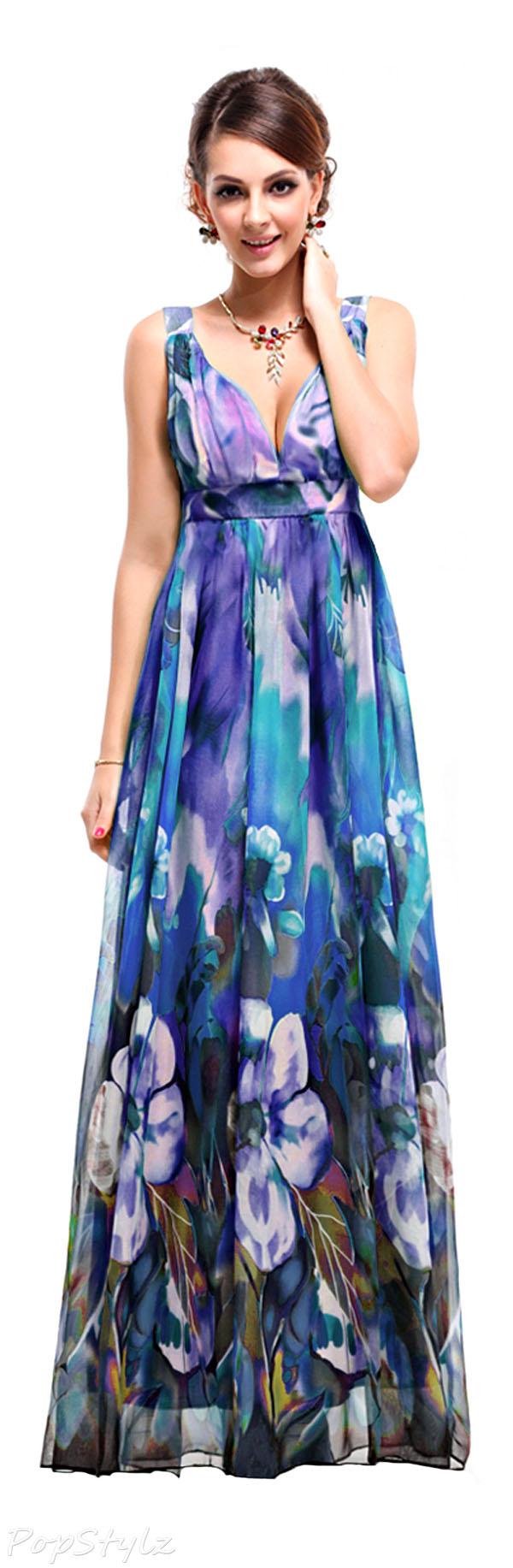 Ever Pretty 09349 Printed Chiffon Formal Dress