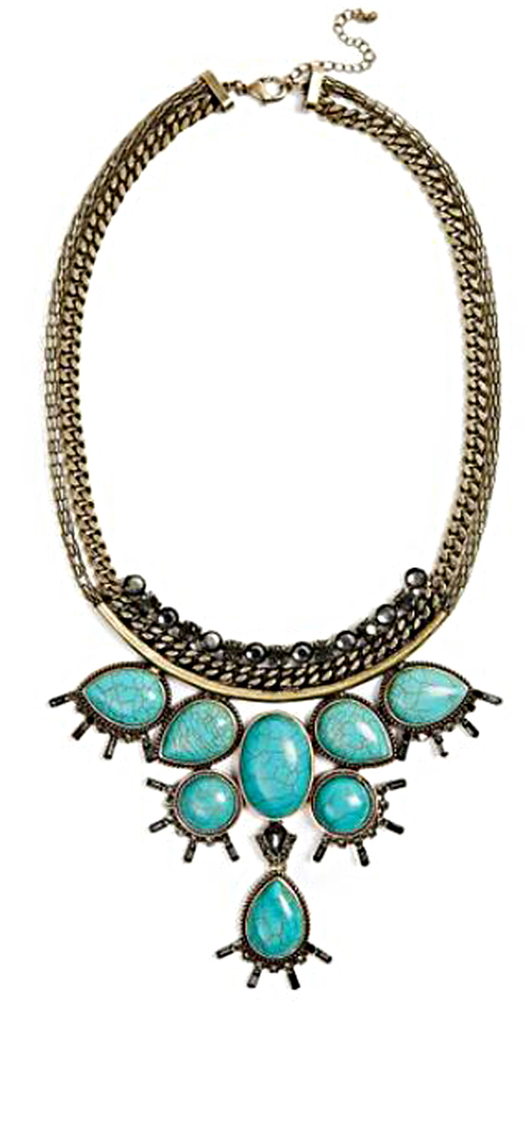 GUESS Women's Genuine Turquoise Necklace