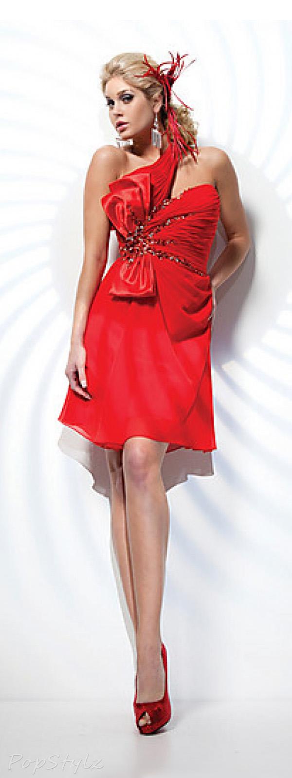 Tony Bowls TS21106 Chiffon A-Line Dress