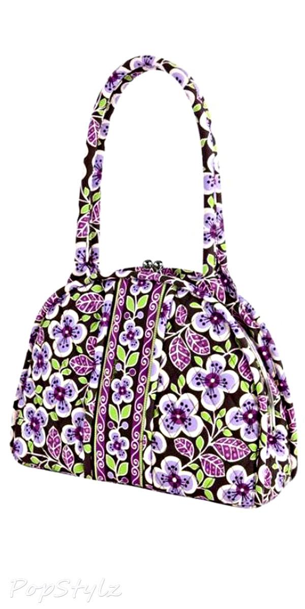 Vera Bradley Eloise Plum Petals Handbag