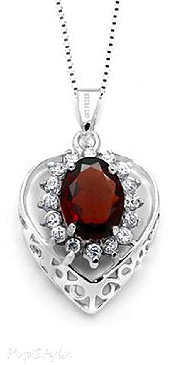 Genuine Garnet Gemstone Necklace