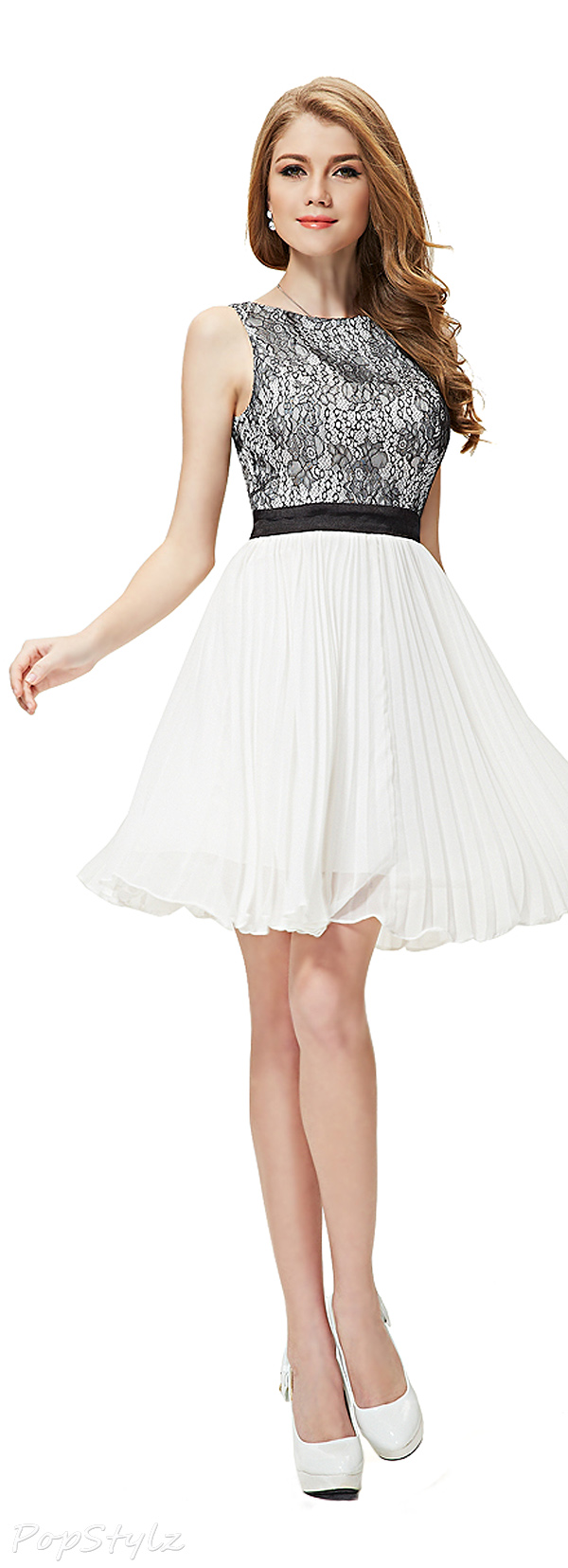 Ever Pretty 03898 Lace Bodice Sleeveless Dress