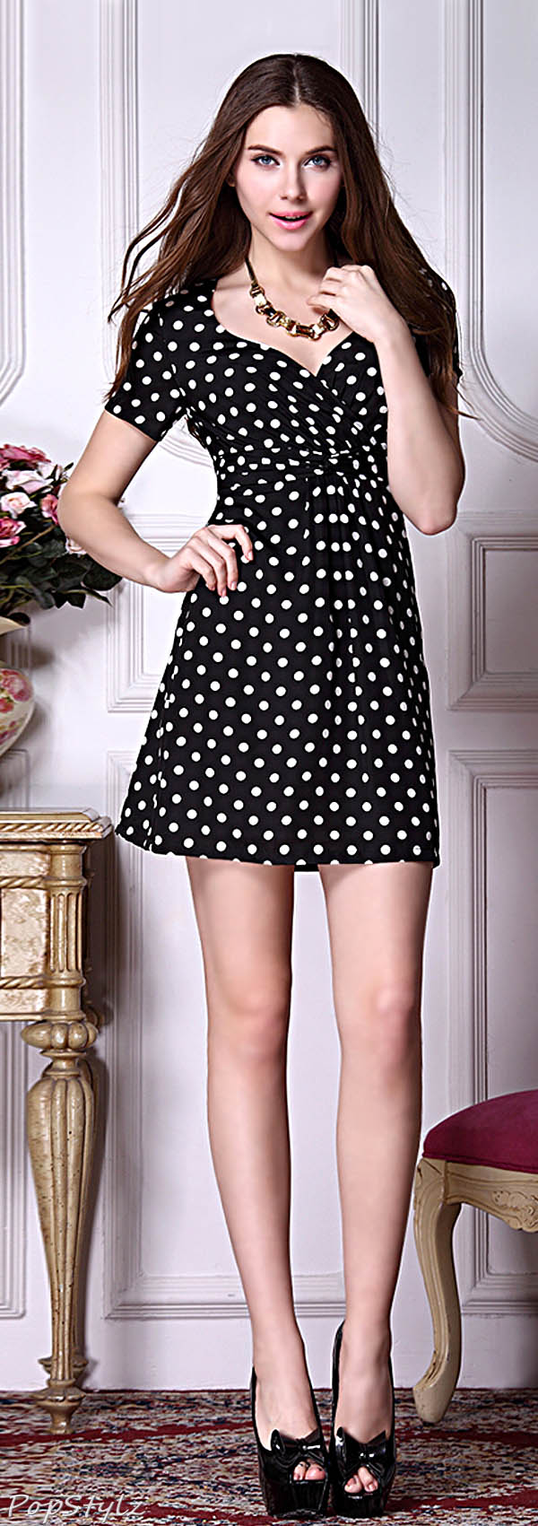 Ever Pretty 03926 Retro Polka Dot Casual Day Dress