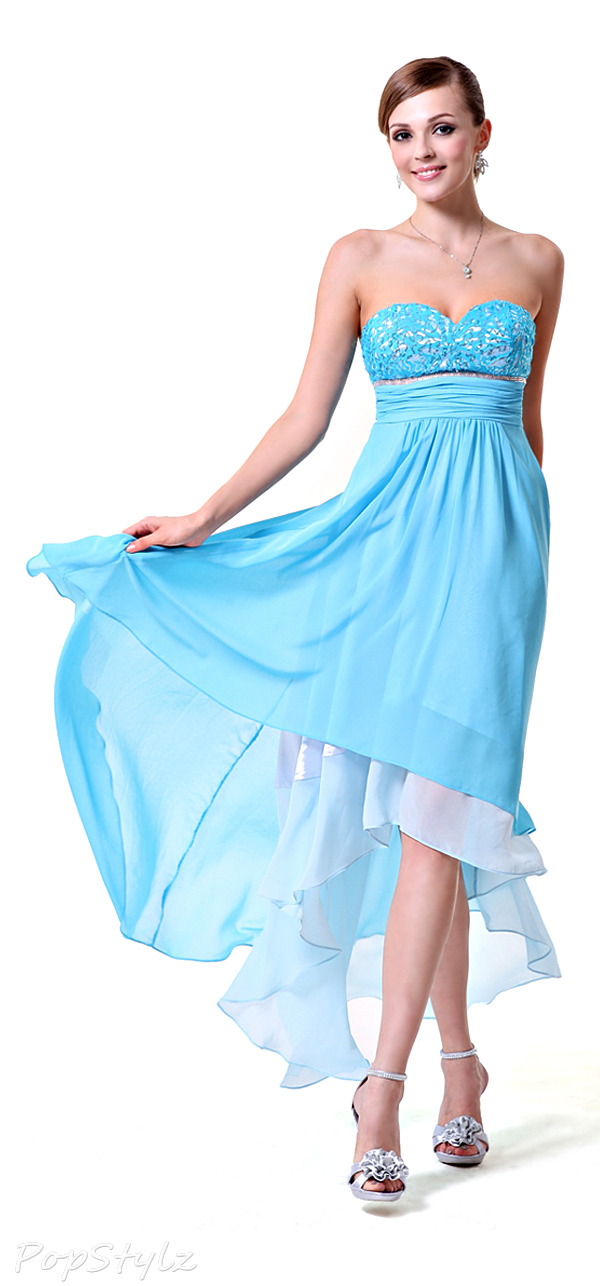 Ever Pretty 06092 Sweetheart Strapless High Low Chiffon Dress