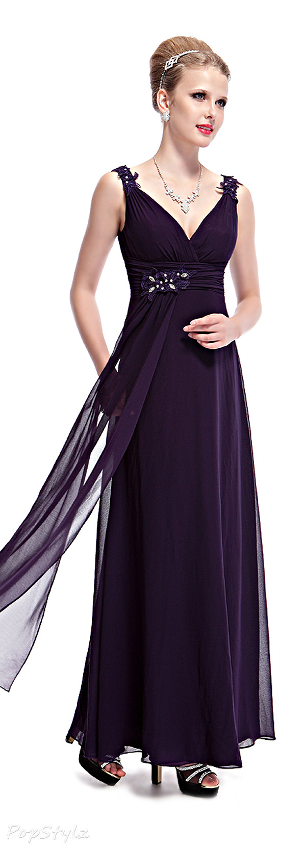 Ever Pretty 08005 Lace Ruched Evening Gown