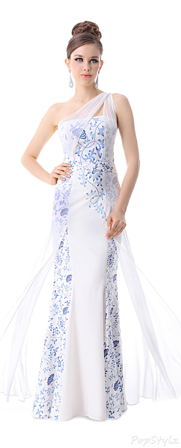 Ever Pretty 09208 Gorgeous One Shoulder Printed Evening Dress