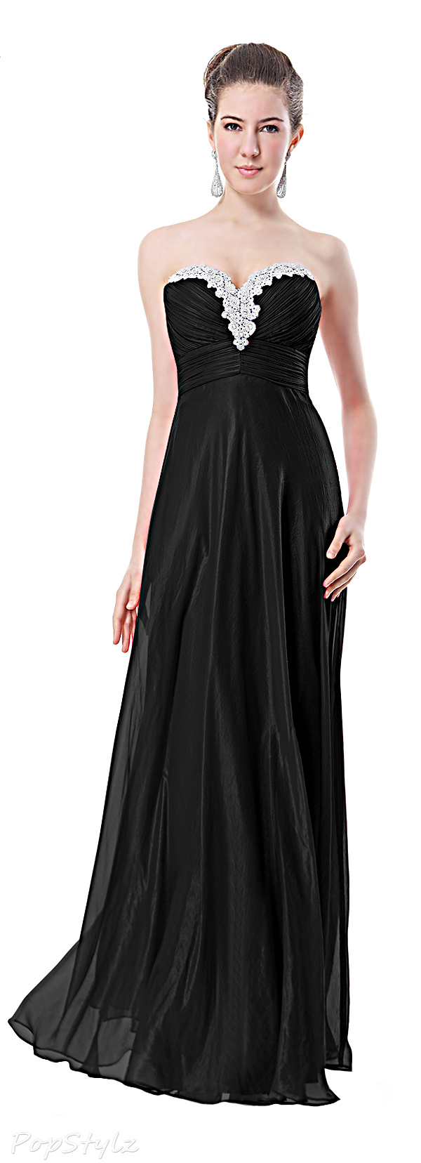 Ever Pretty 09915 Ruched Crystalline Long Gown