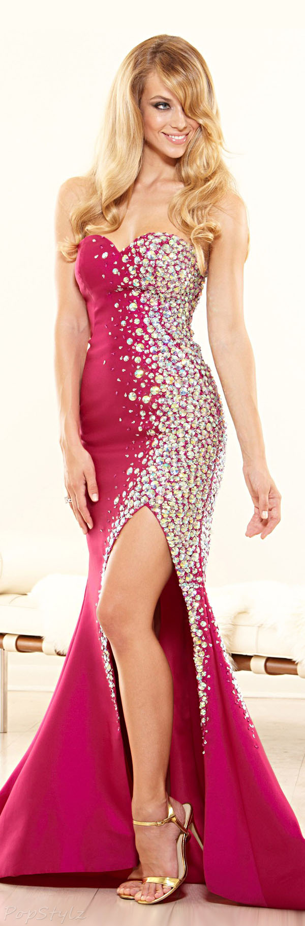 Terani Couture P3180 Strapless Evening Gown