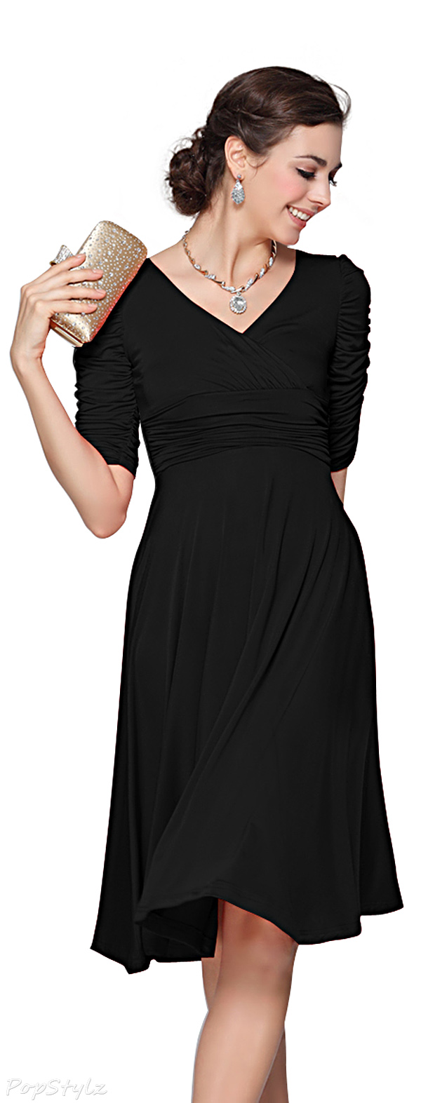 Ever Pretty 03632 Classy V-Neck Casual Cocktail Dress