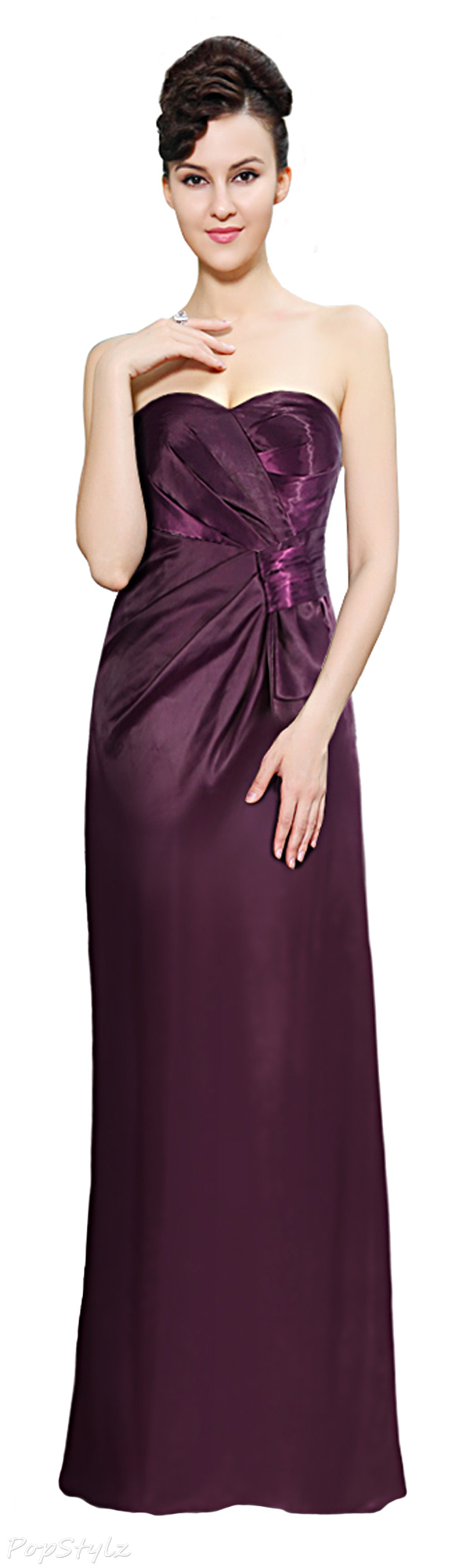 Ever Pretty 09548 Strapless Ruched Waist Evening Gown