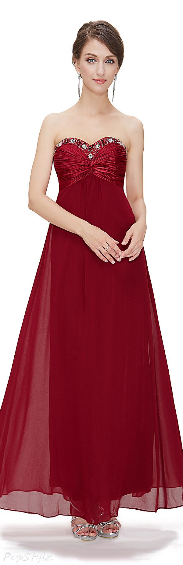 Ever Pretty 09568 Chiffon Rhinestones Crystal Beads Sweetheart Gown