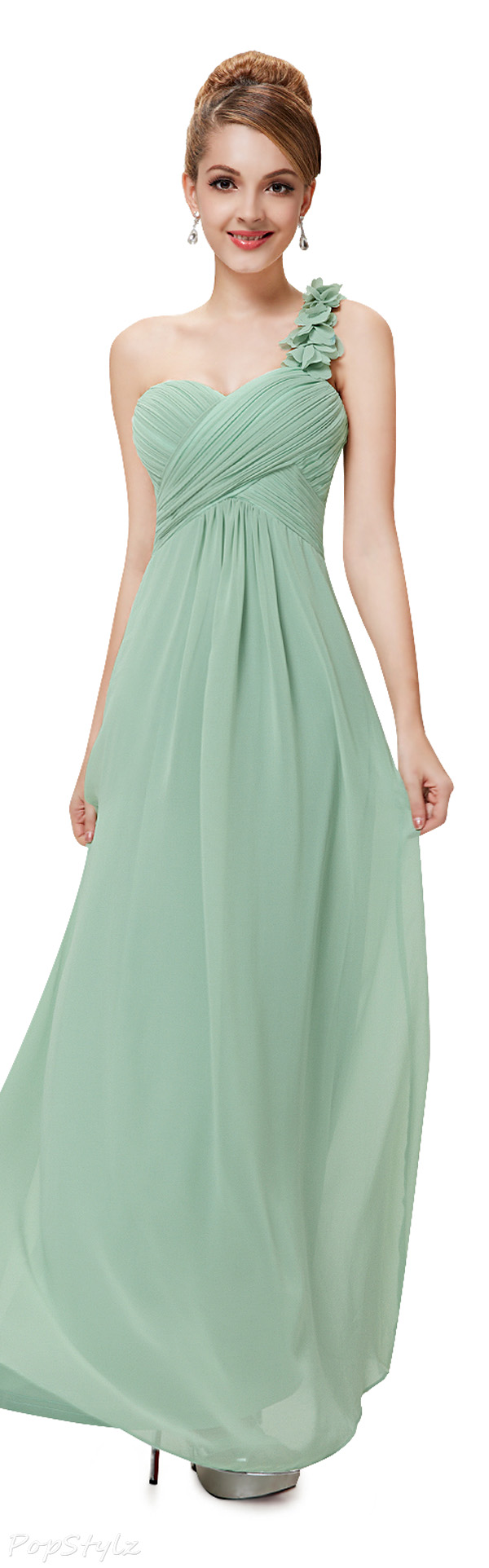 Ever Pretty 09768 One Shoulder Chiffon Maxi Evening Gown