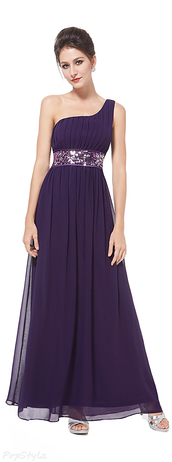 Ever Pretty 09770 Empire Line Sequins Evening Gown