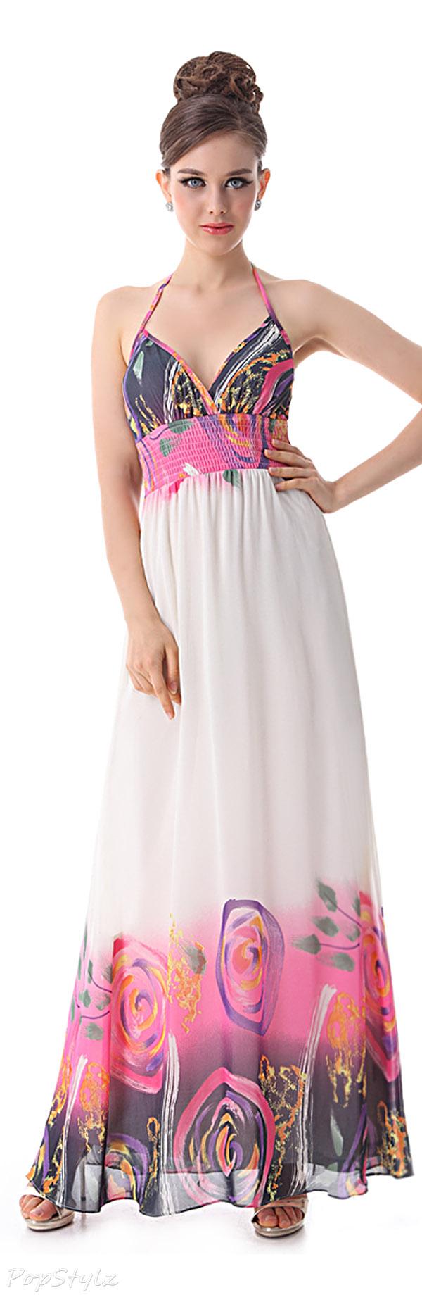Ever Pretty 09847 V-Neck Halter Maxi Dress