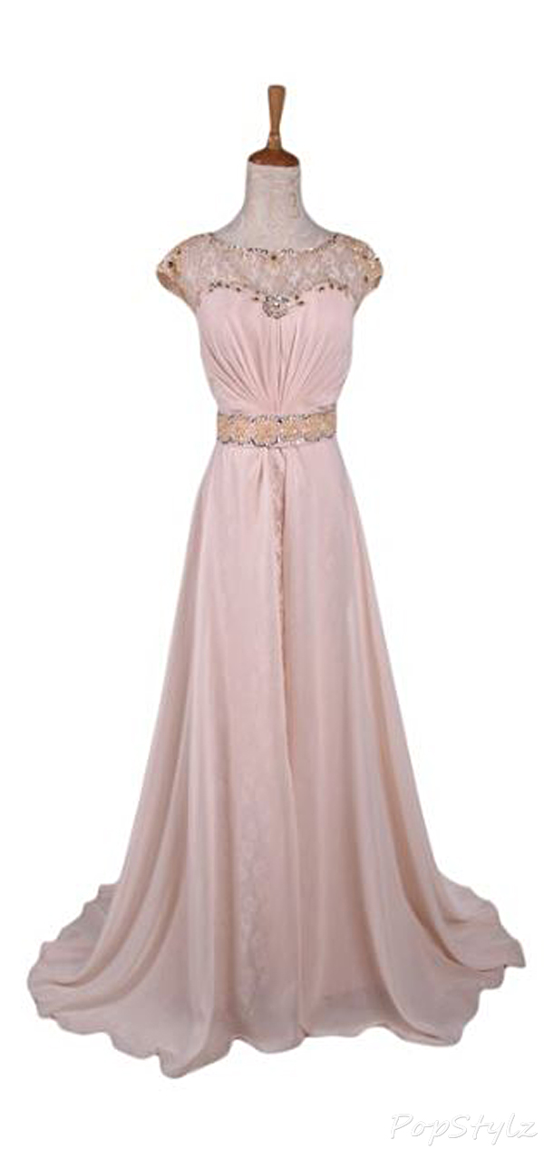 Sunvary 2015 Jewel Lace Long Chiffon Gown