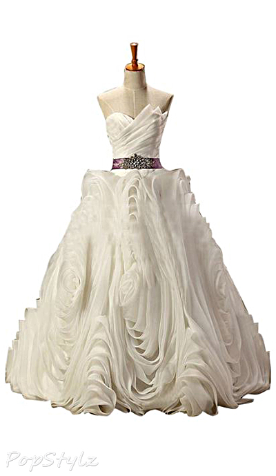 Sunvary 2015 Ruffled Organza Ball Gown