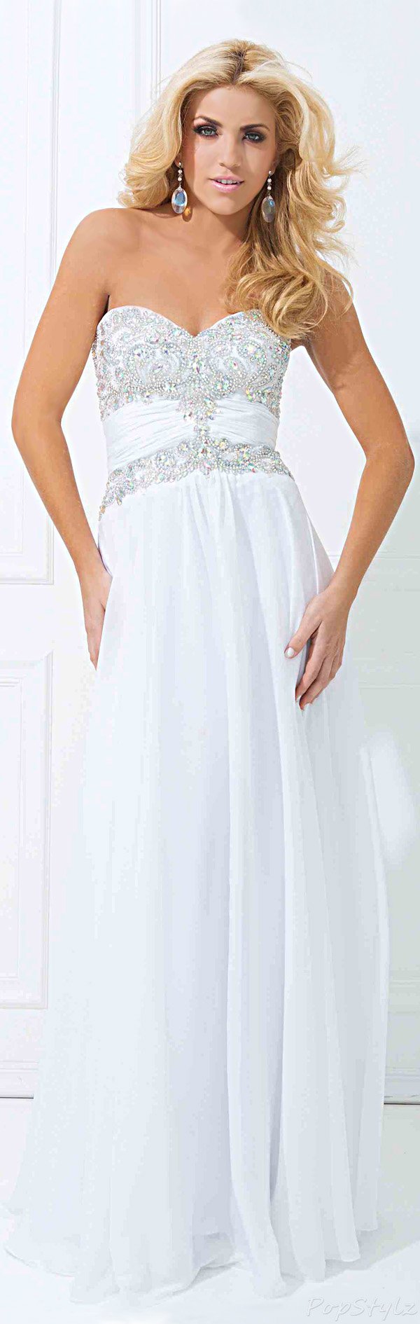 Tony Bowls Paris 114744 Long Flowing Evening Gown