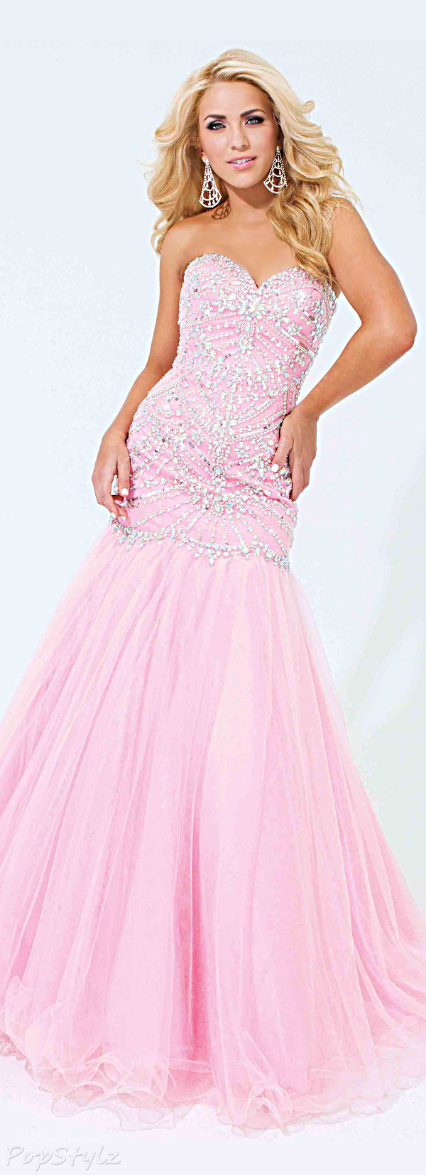 Tony Bowls 114746 Strapless Sweetheart Evening Gown