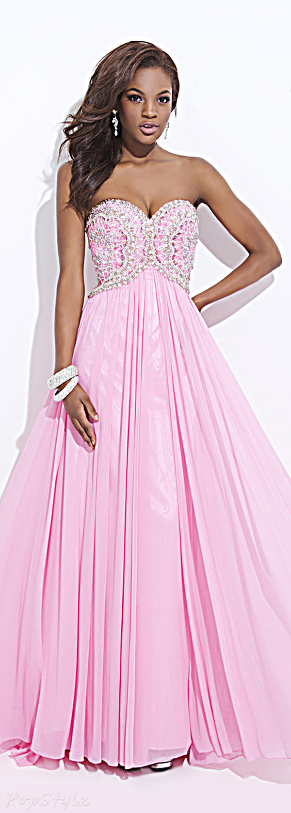 Tony Bowls TBE11449 Strapless Sweetheart Flowing Evening Gown