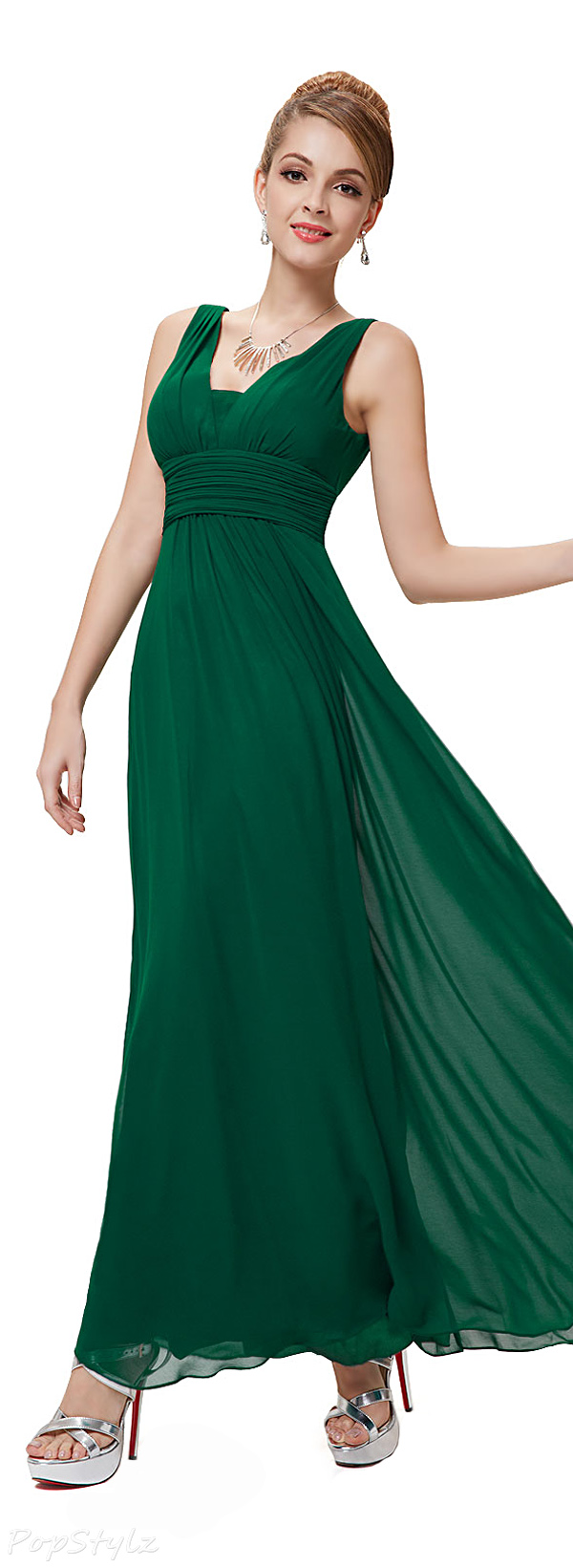Ever Pretty 08110 Double V-Neck Evening Dress