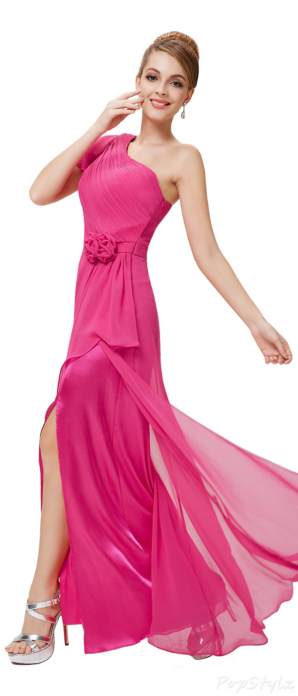 Ever Pretty 08232 Hot Pink Long Chiffon Party Dress