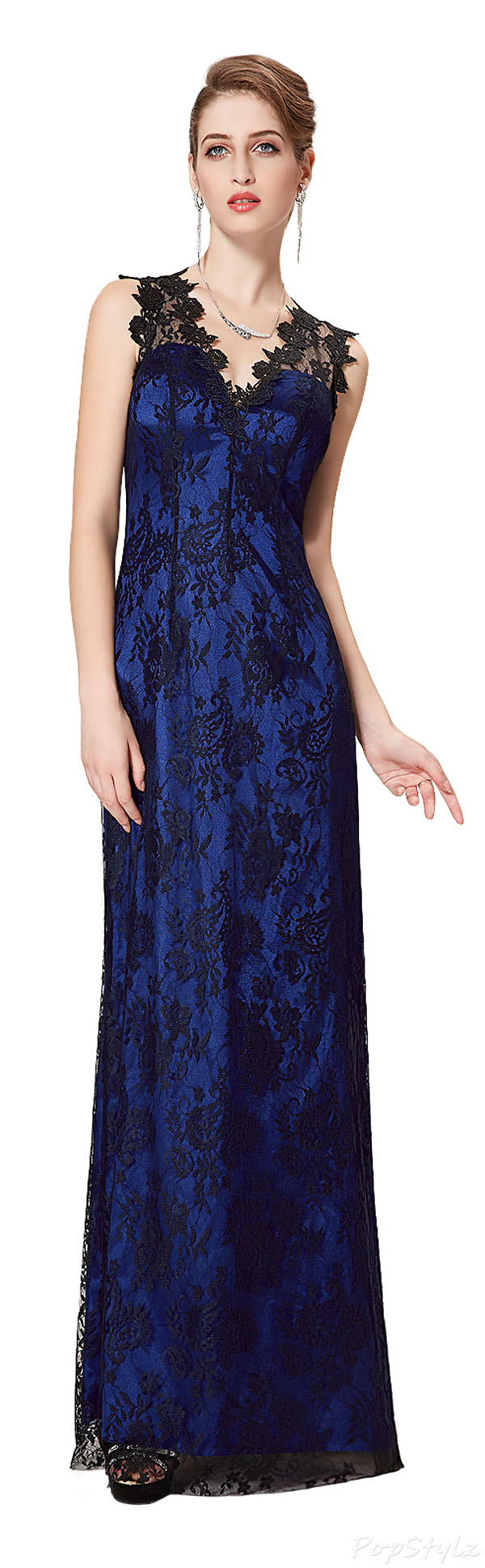 Ever Pretty 08325 Sleeveless Lace Formal Evening Dress