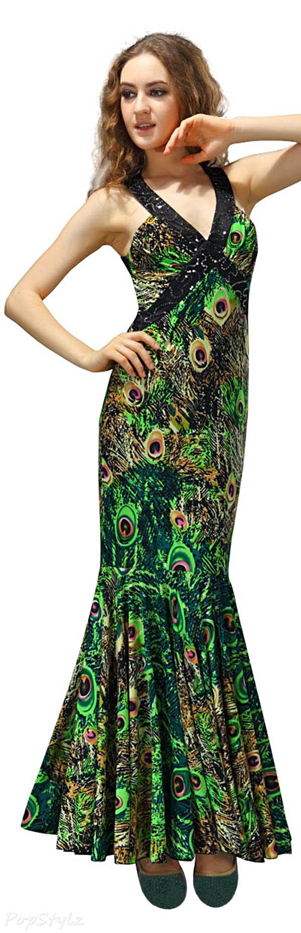 Ever Pretty 09398 Printed  Evening Dress