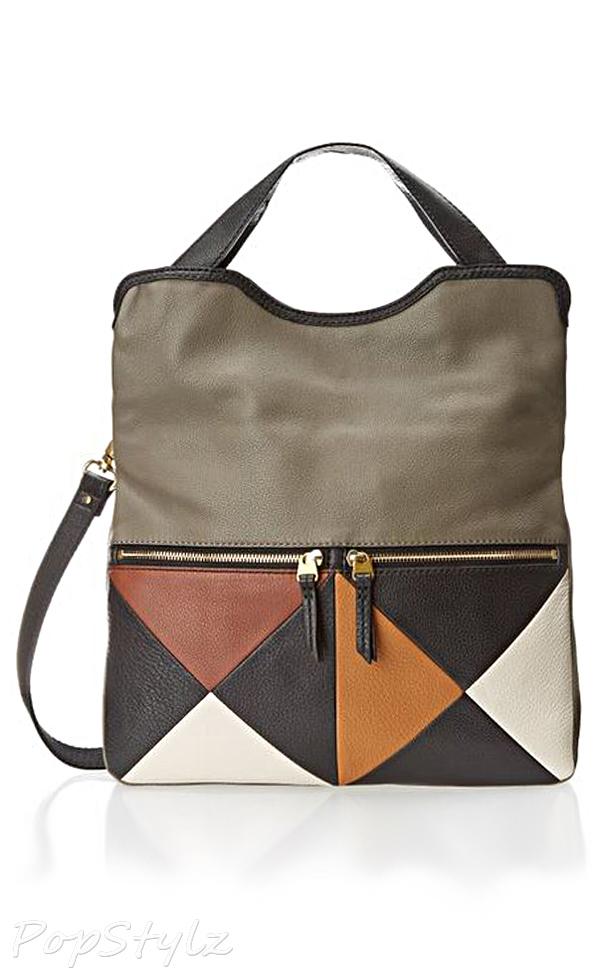 Fossil Erin Colorblock Cross Body Leather Handbag