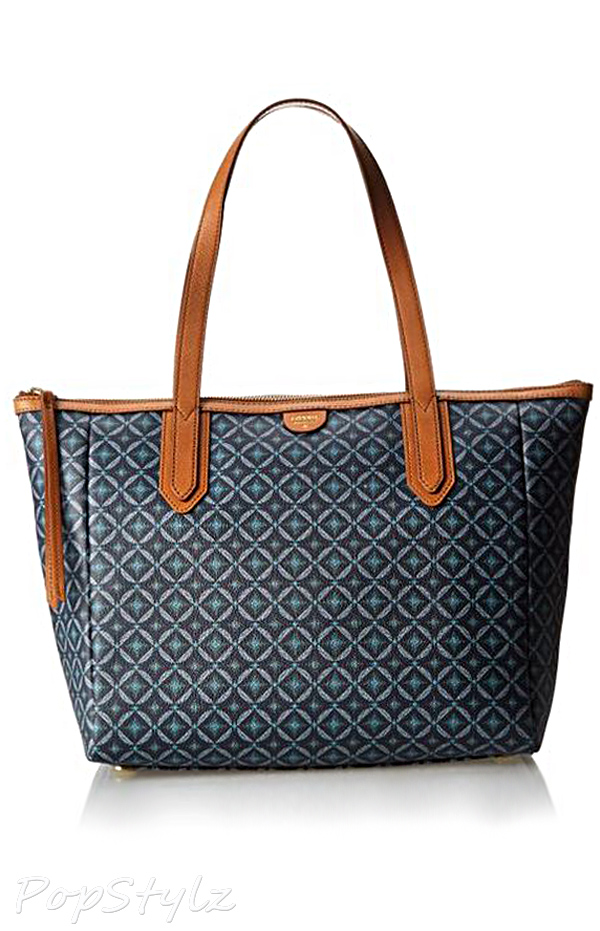 Fossil Sydney Shopper Leather Travel Tote