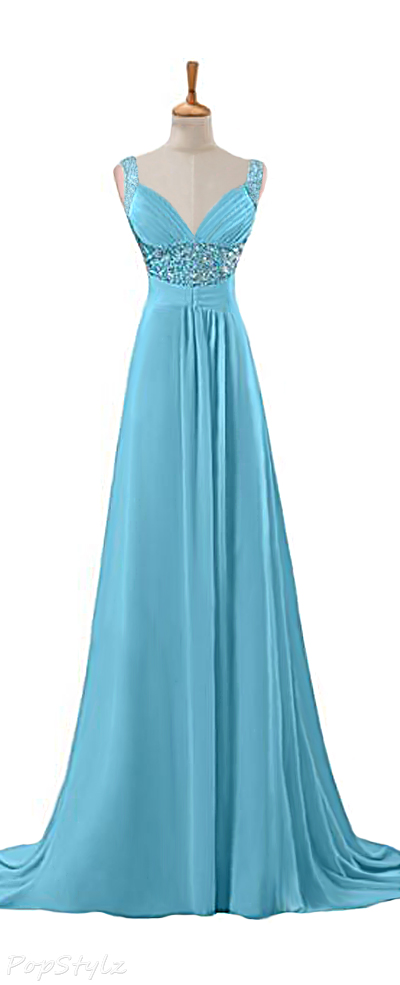 Sunvary 2015 Chiffon Floor Length Long Gown