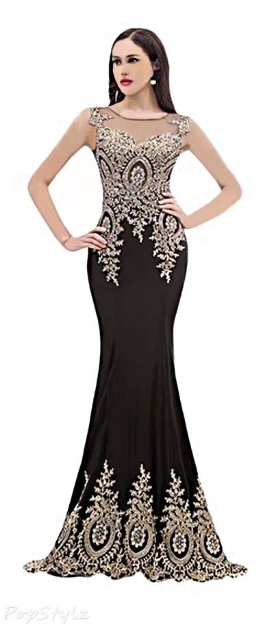 Sunvary Lace Mermaid Evening Gown