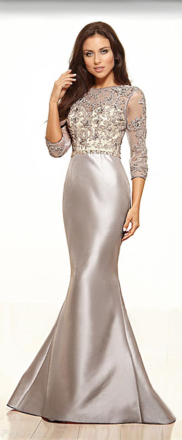 Terani Couture M3505 Elegant Lacy Top Dress