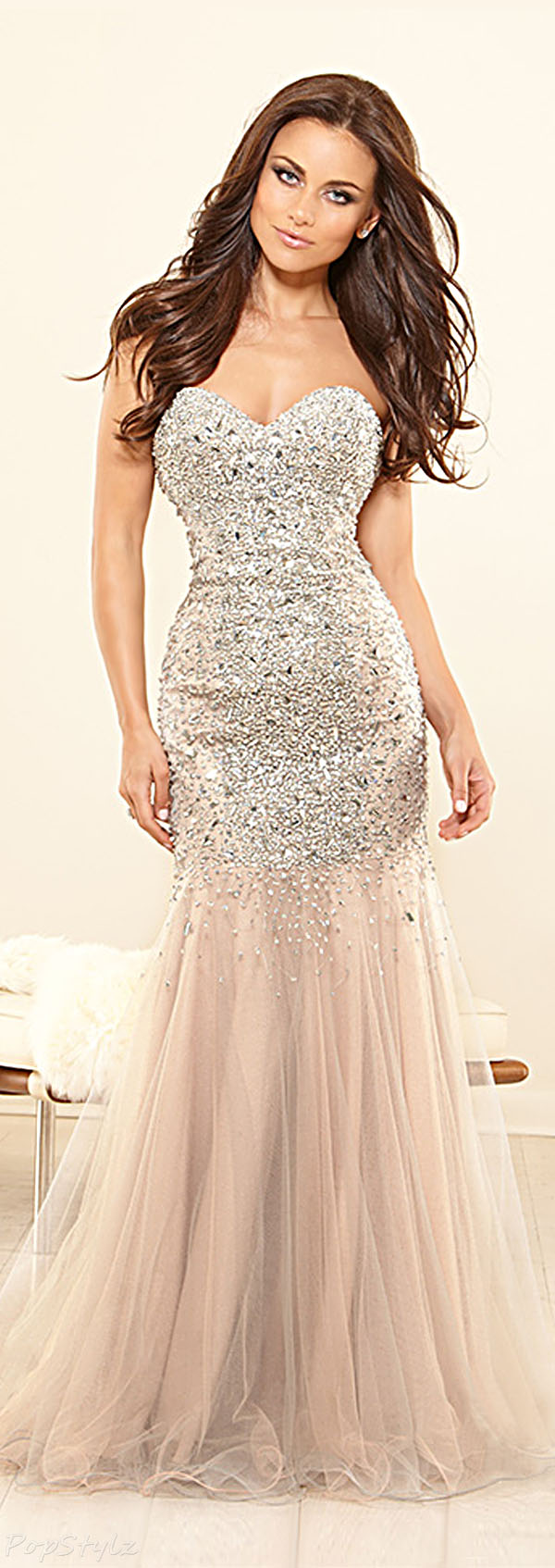 Terani Couture P1575 Strapless Long Gown