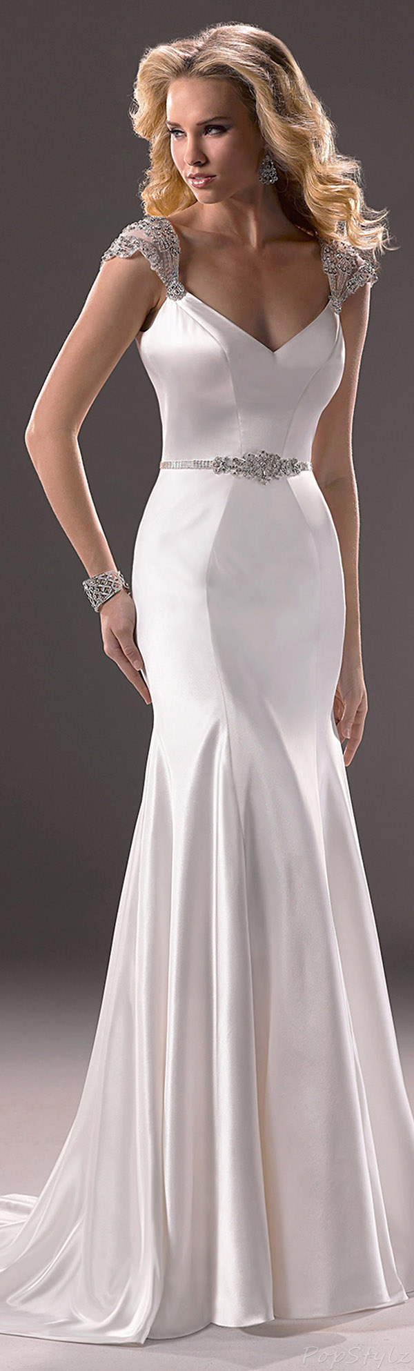 Angel Bride Satin Mermaid Bridal Gown