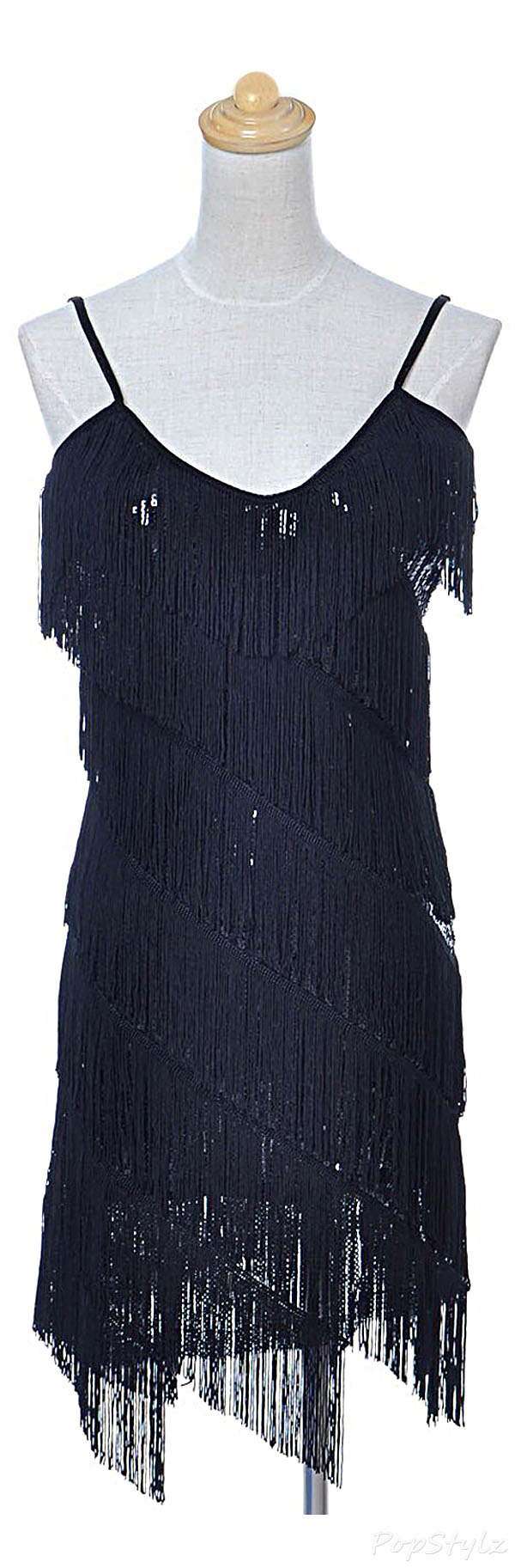 Anna-Kaci Sequin Fringe 1920s Flapper Inspired Party Dress