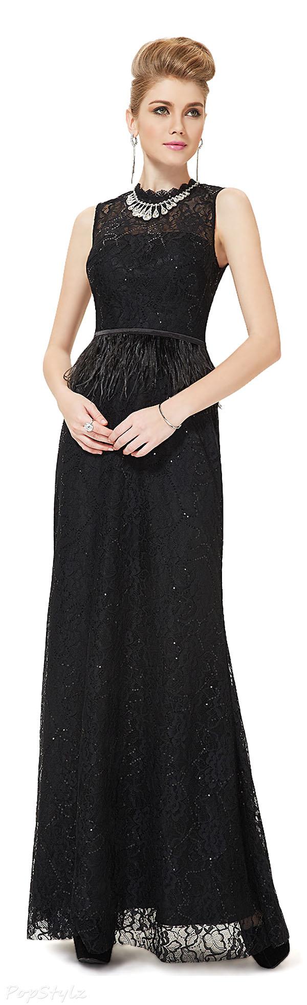 Ever Pretty 08211 Satin & Lace Evening Dress
