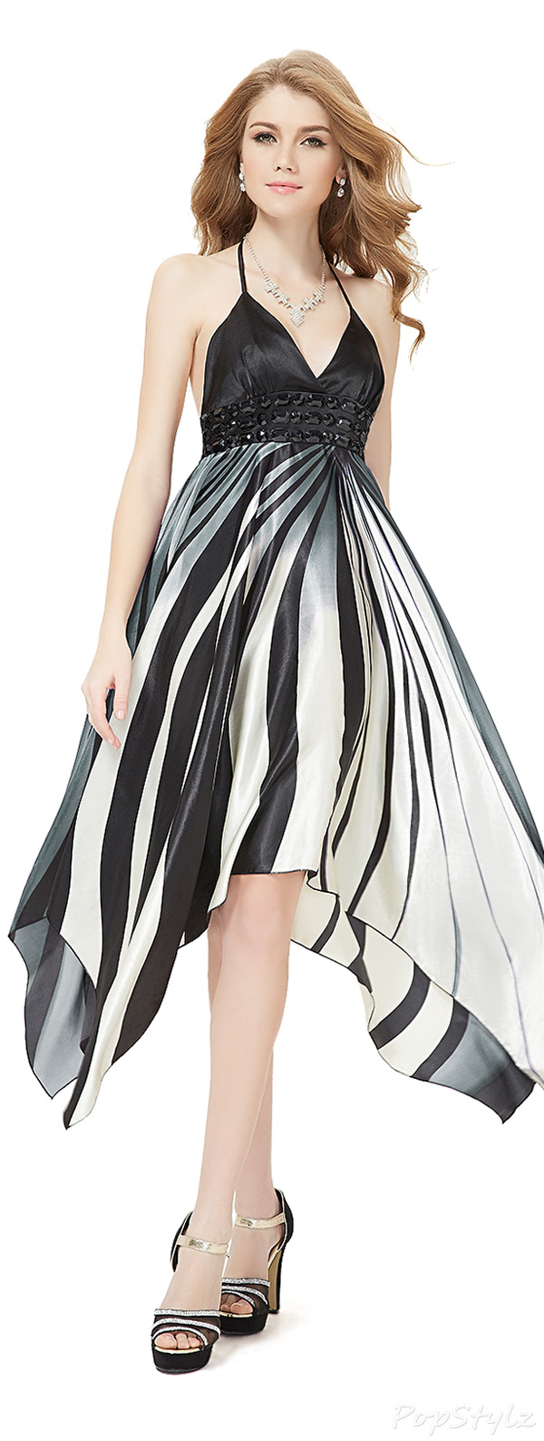 Ever Pretty 09046 Rhinestones Cocktail Dress
