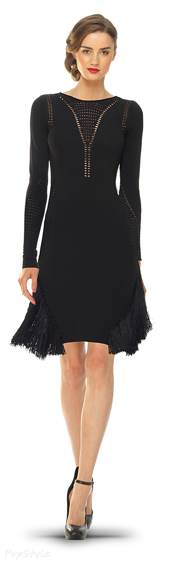 MAXSTUDIO Fringed Sweater Dress