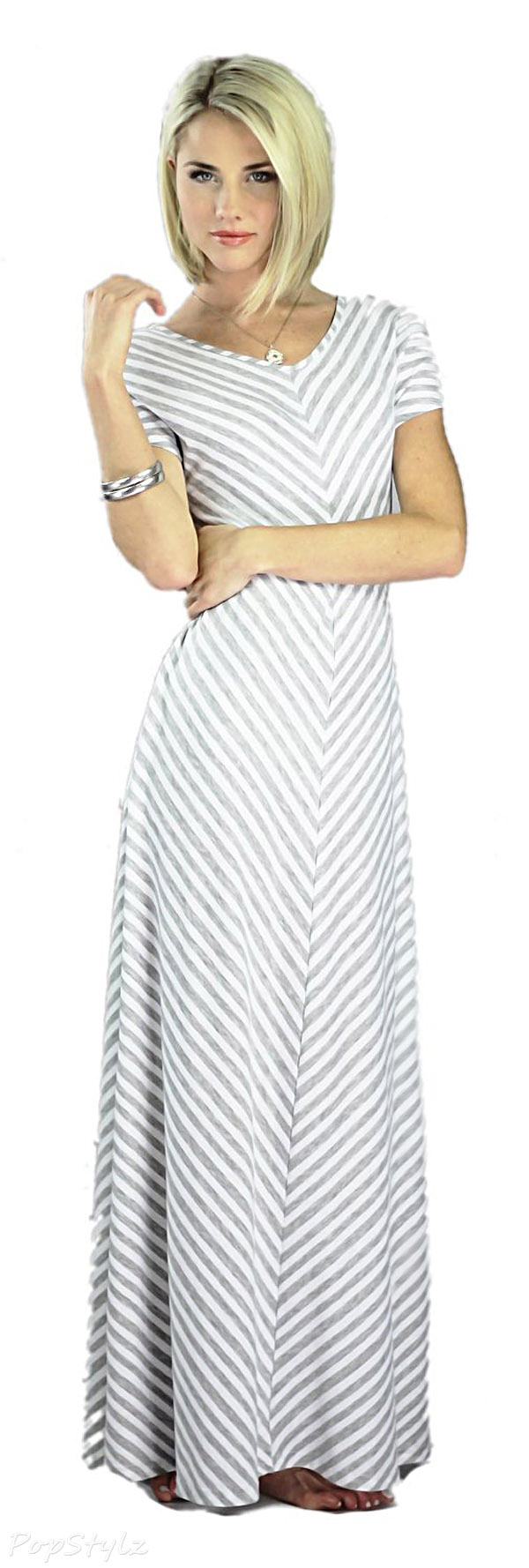 Mikarose Grey Maxi Dress- Makenna