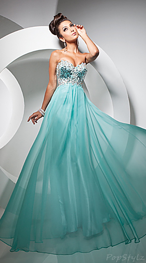 Tony Bowls TB113729 Strapless Evening Gown