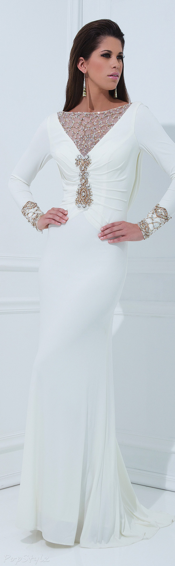 Tony Bowls TBE11457 Beautifully Detailed Evening Gown
