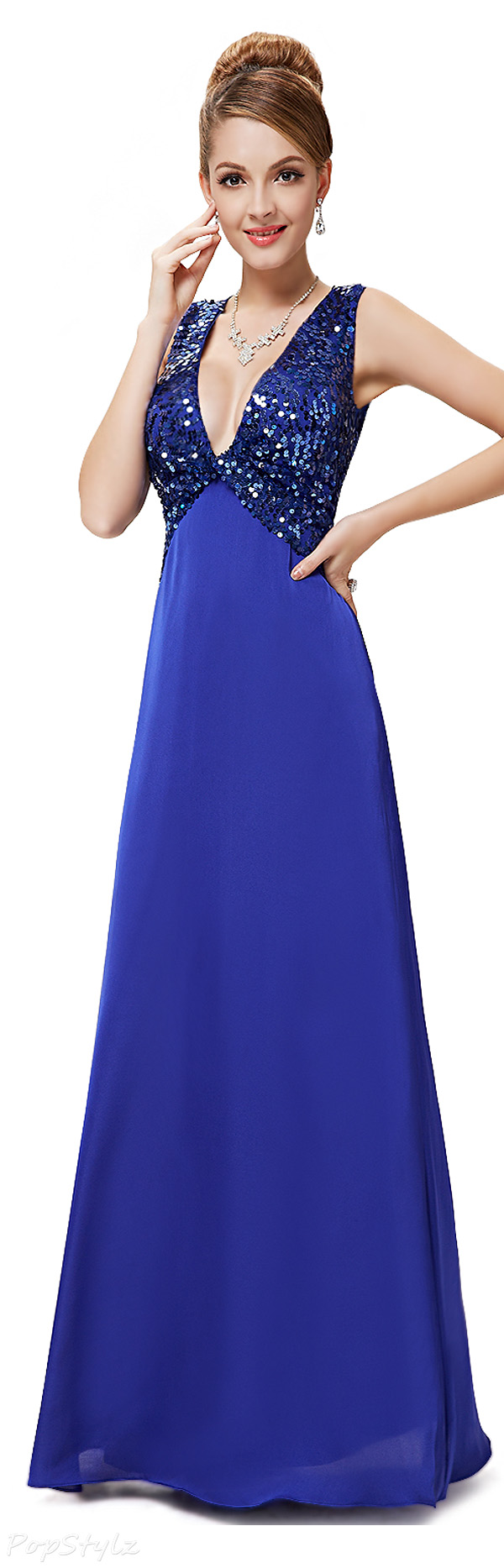 Ever Pretty 08255 Sequined Long Evening Dress