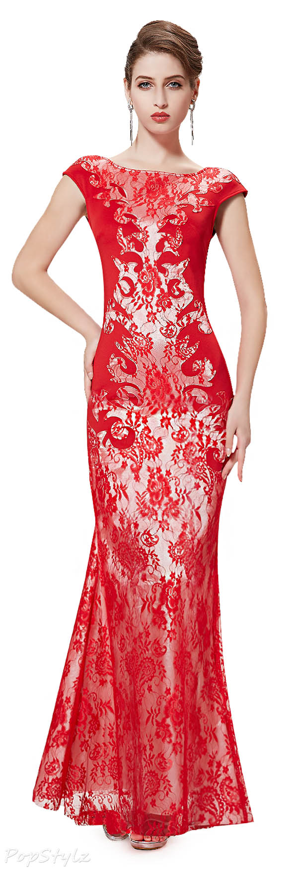 Ever Pretty 08338 Lace & Satin Evening Gown