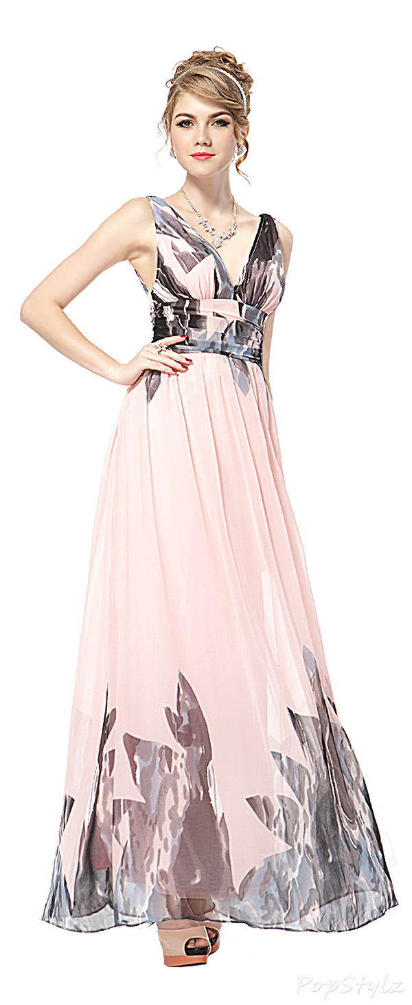 Ever Pretty 09641 Printed Chiffon Maxi Dress