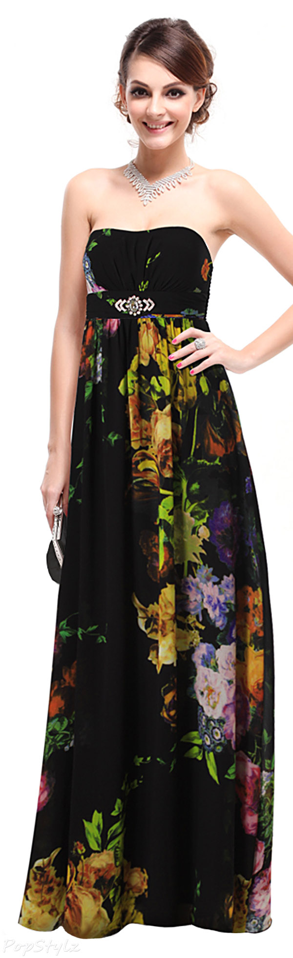 Ever Pretty 09754 Floral Maxi Evening Dress